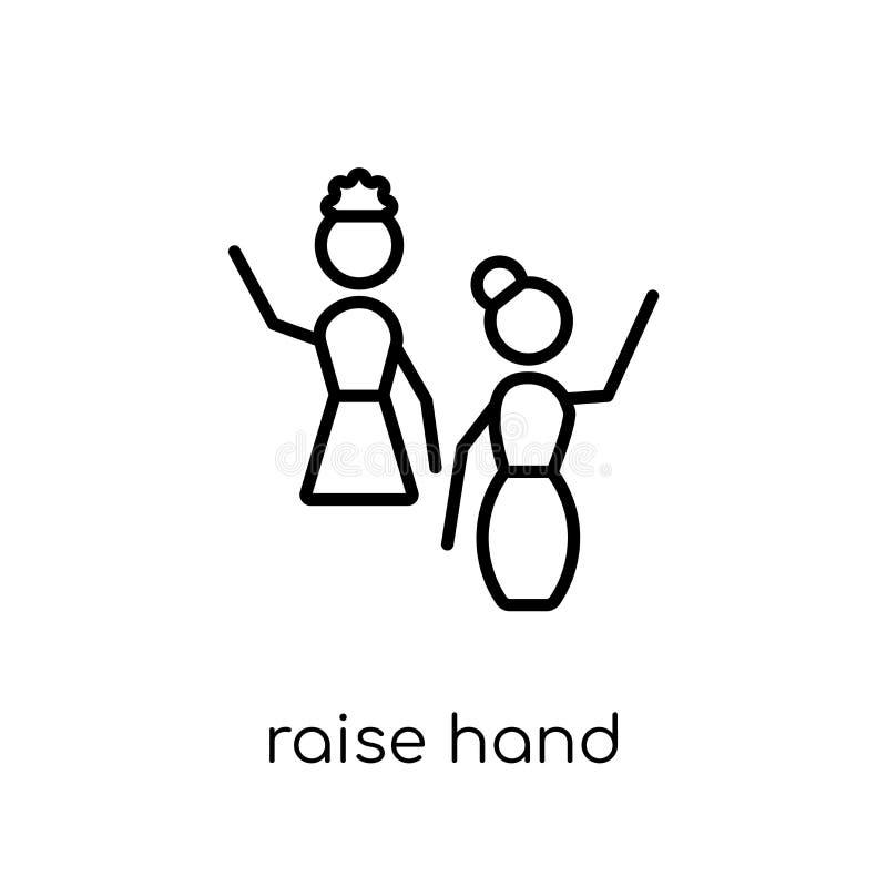 Значок руки повышения  иллюстрация вектора