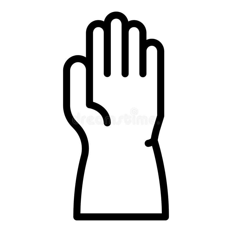 Значок руки полный, стиль плана бесплатная иллюстрация