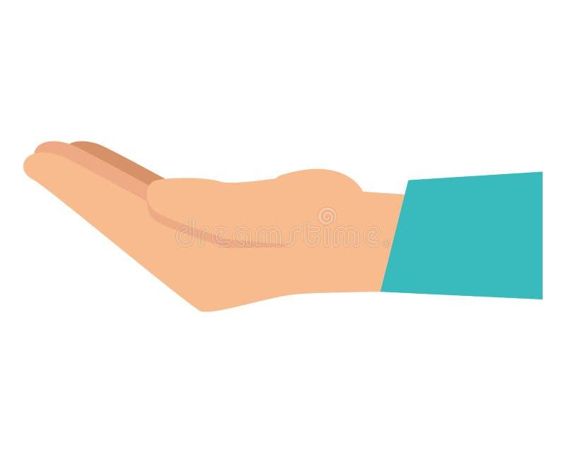 Значок руки человеческий спрашивая бесплатная иллюстрация