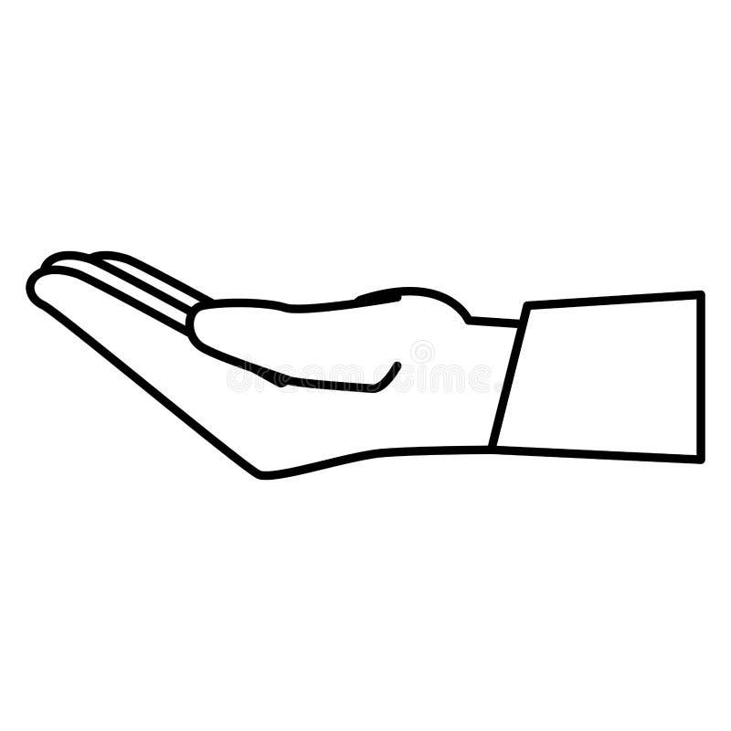 Значок руки человеческий спрашивая иллюстрация штока