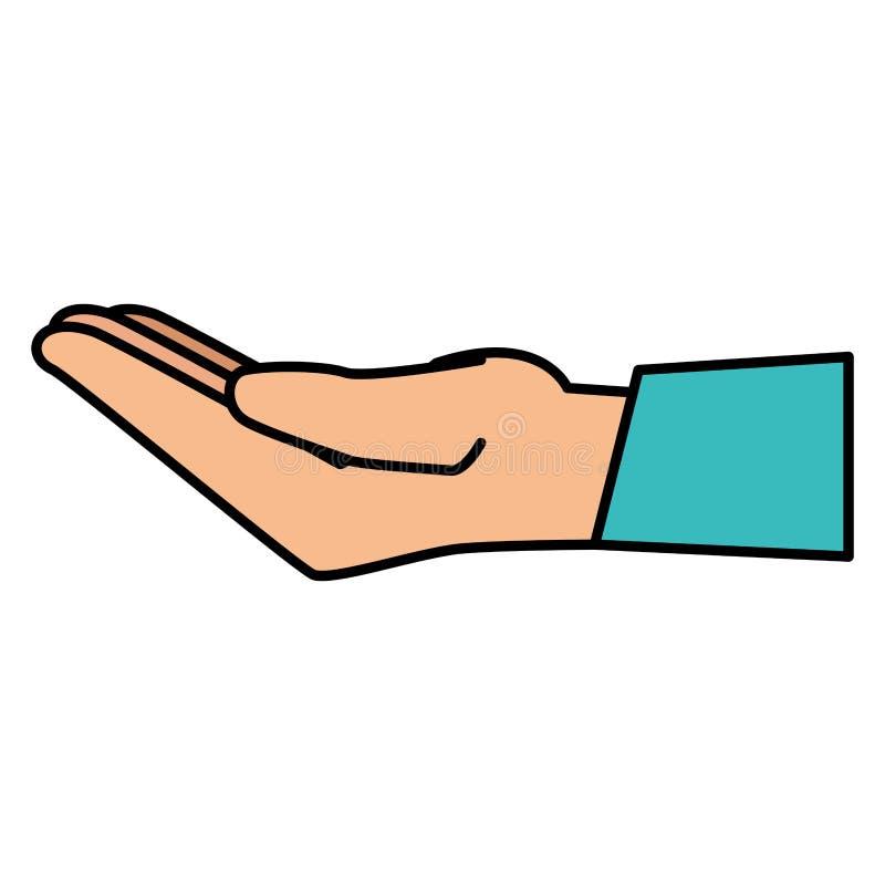 Значок руки человеческий спрашивая иллюстрация вектора