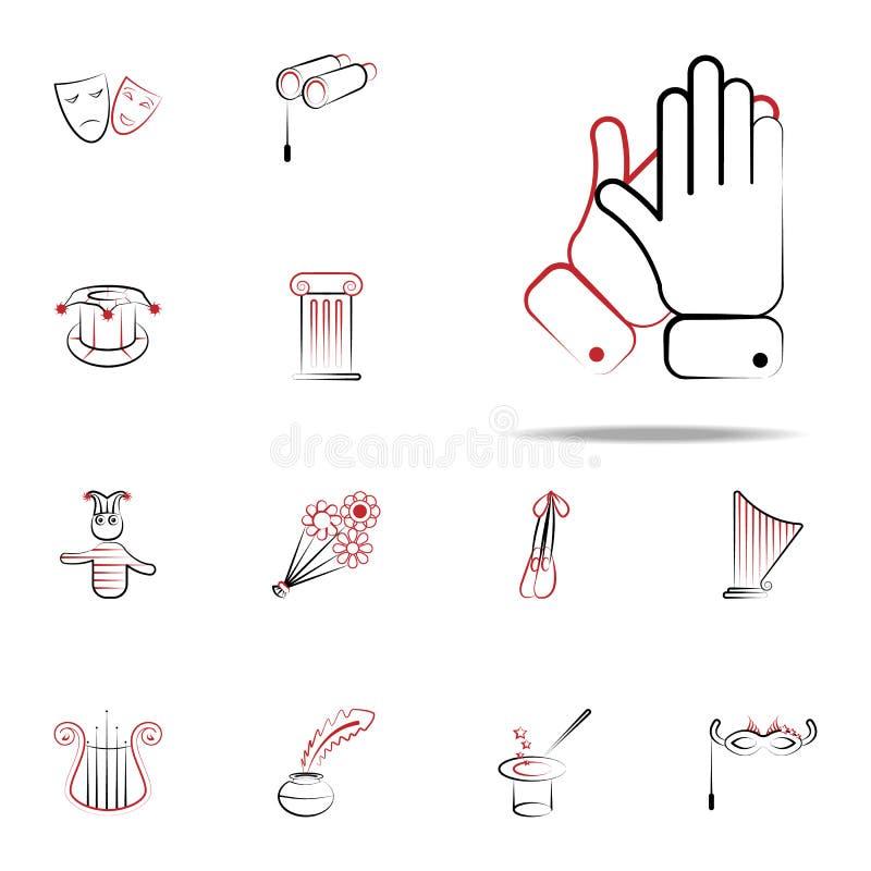 Значок рукоплескания набор значков handdraw всеобщий для сети и черни бесплатная иллюстрация