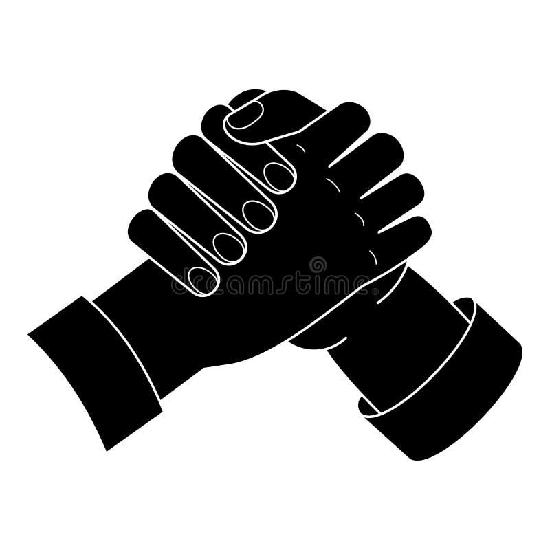 Значок рукопожатия братства, простой стиль иллюстрация вектора