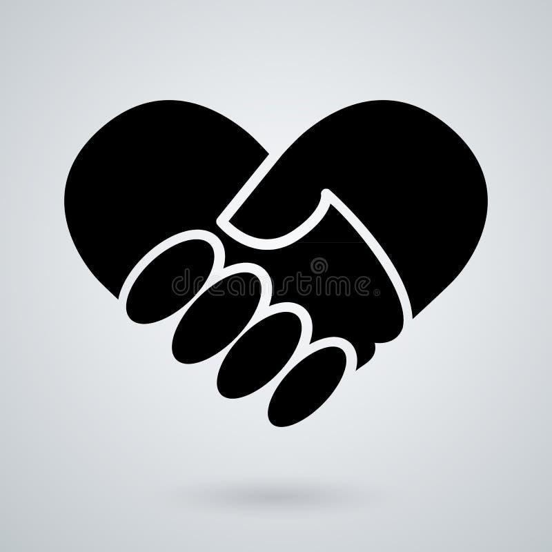 Значок рукопожатия Предпосылка для дела и финансов бесплатная иллюстрация