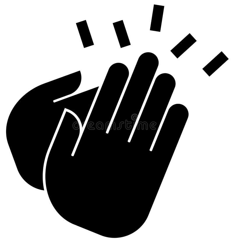 Значок рукоплескания иллюстрация вектора