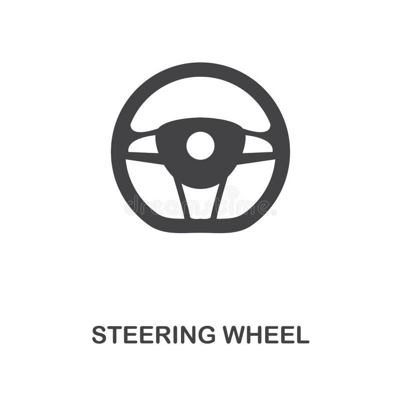 Значок руля творческий Простая иллюстрация элемента Дизайн символа концепции руля от собрания частей автомобиля Смогите быть иллюстрация вектора