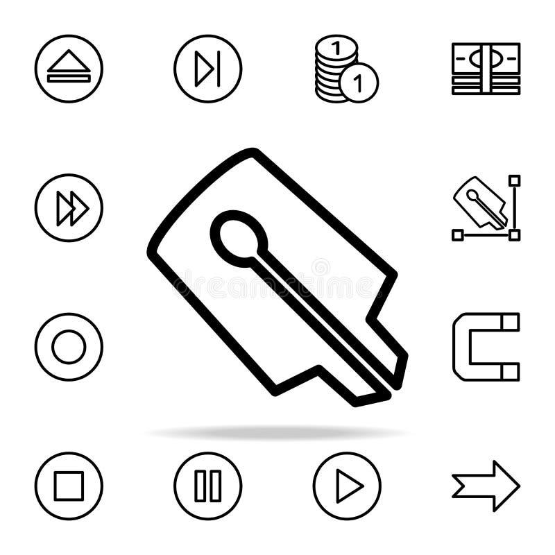 значок ручки ручки чернил комплект значков сети всеобщий для сети и черни иллюстрация штока