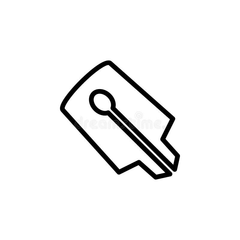 значок ручки ручки чернил Элемент minimalistic значков для передвижных apps концепции и сети Тонкая линия значок для дизайна и ра бесплатная иллюстрация