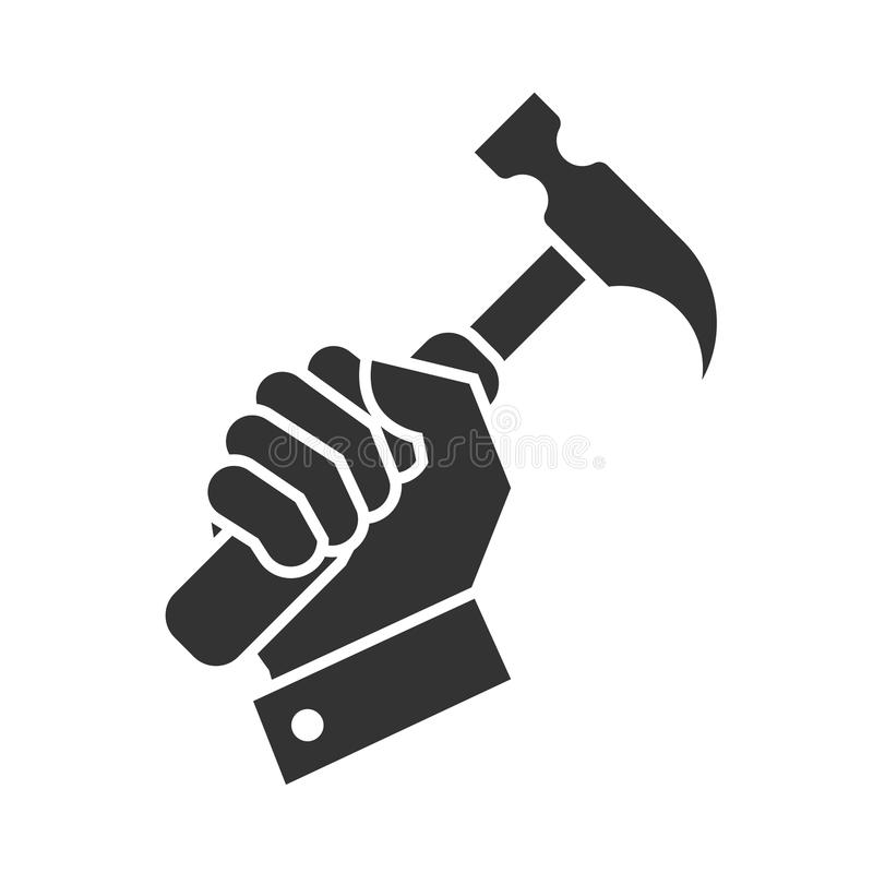 Значок ручного молотка иллюстрация вектора
