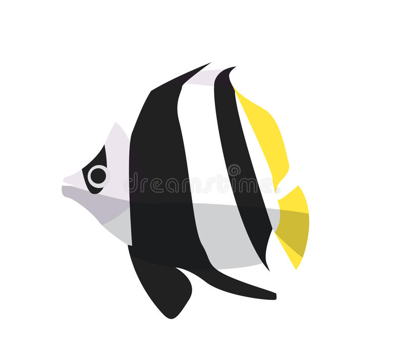 Значок рыб Иллюстрация вектора плоская Рыбы океана или моря бесплатная иллюстрация