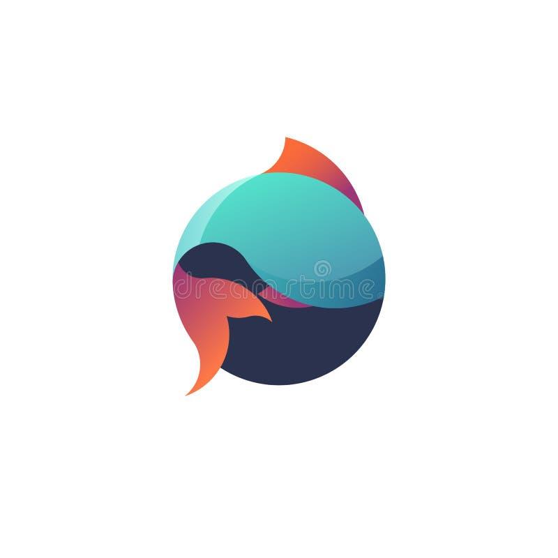 Значок рыб круглый стоковые фото