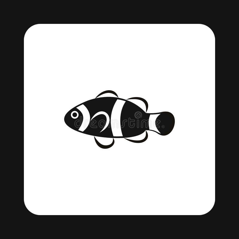 Значок рыб клоуна, простой стиль иллюстрация штока