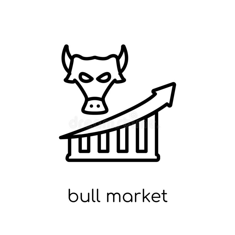 Значок рынка тенденцией к повышению курсов от собрания рынка тенденцией к повышению курсов бесплатная иллюстрация
