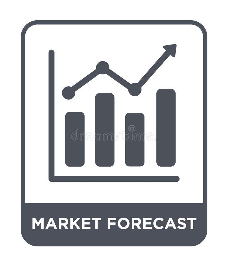 значок рыночного прогноза в ультрамодном стиле дизайна значок рыночного прогноза изолированный на белой предпосылке значок вектор бесплатная иллюстрация