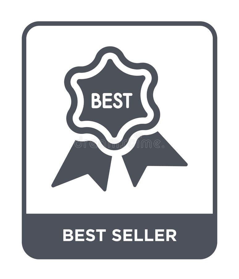 значок самого лучшего продавца в ультрамодном стиле дизайна Значок самого лучшего продавца изолированный на белой предпосылке зна иллюстрация штока