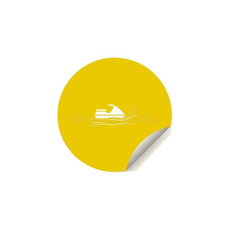 значок самоката воды в стиле стикера Одно значка собрания удовольствия лета можно использовать для UI, UX иллюстрация вектора