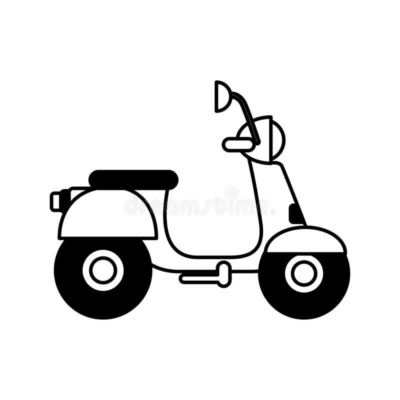 значок самоката изолированный мотоциклом бесплатная иллюстрация