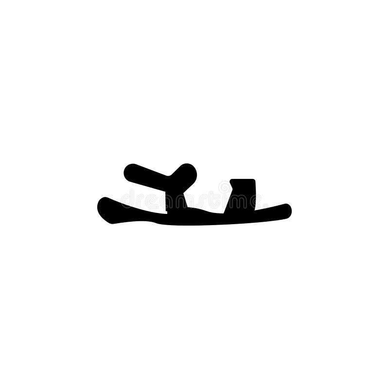 Значок сандалий иллюстрация вектора