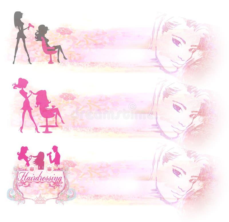 Download Значок салона парикмахерских услуг - комплект знамен Иллюстрация штока - иллюстрации насчитывающей парикмахер, funky: 41654182