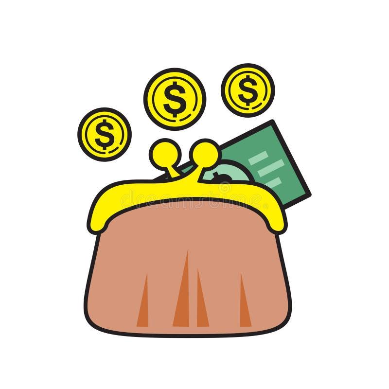 Значок сбережений финансов на белой предпосылке для графика и веб-дизайна, современного простого знака вектора интернет принципиа иллюстрация штока