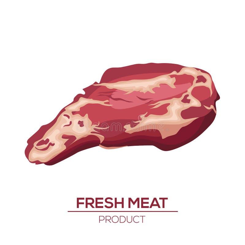 Значок свежего мяса в стиле плоско Объект isoletad вектора иллюстрация вектора