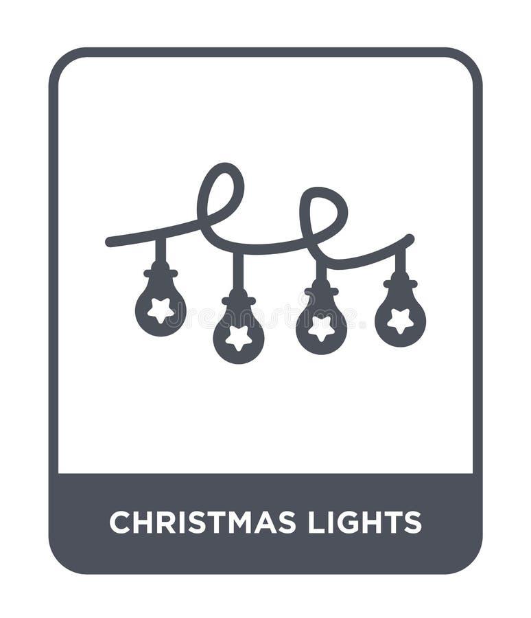 значок светов рождества в ультрамодном стиле дизайна значок светов рождества изолированный на белой предпосылке значок вектора св бесплатная иллюстрация