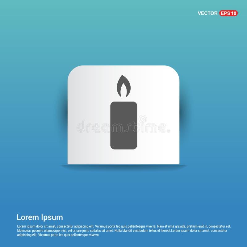 Значок свечи - голубая кнопка стикера бесплатная иллюстрация