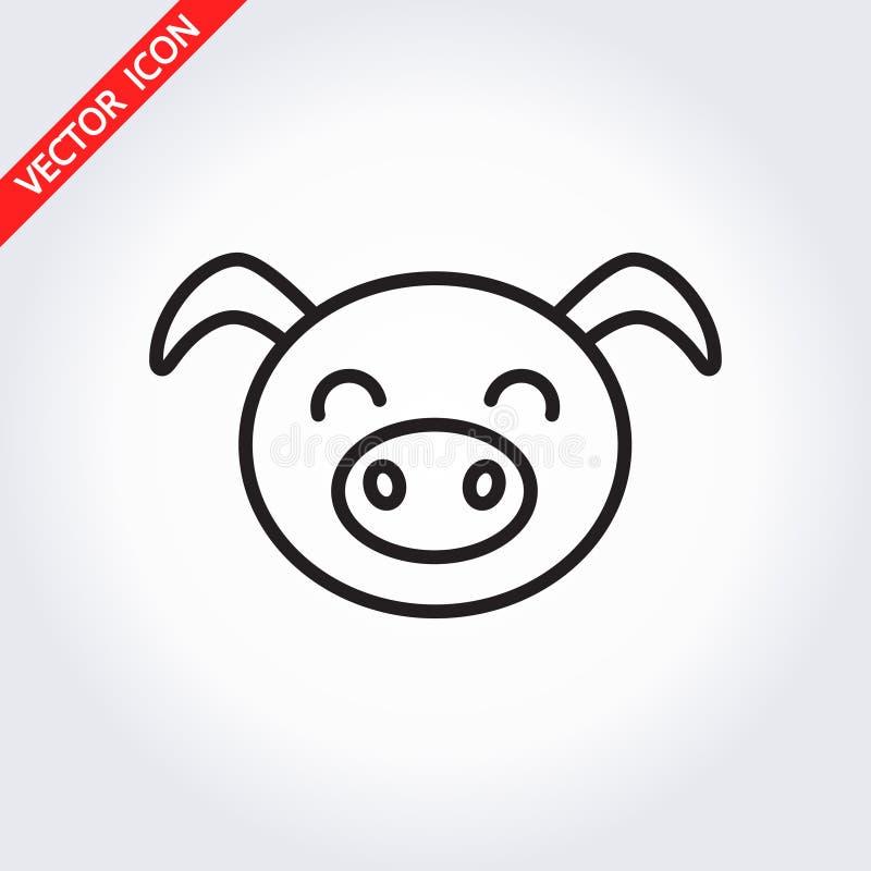 Значок свиньи головной Его можно использовать как - логотип, пиктограмма, значок, infogr бесплатная иллюстрация