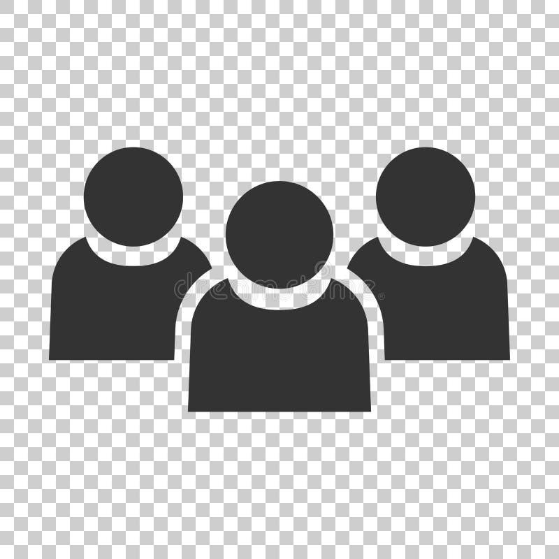 Значок связи людей в плоском стиле Illustrat вектора людей иллюстрация штока