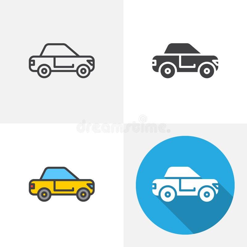 Значок седана автомобиля иллюстрация штока