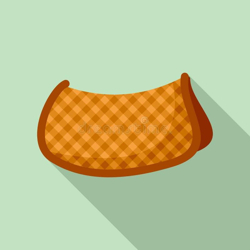 Значок седловины хлопка теплый, плоский стиль бесплатная иллюстрация