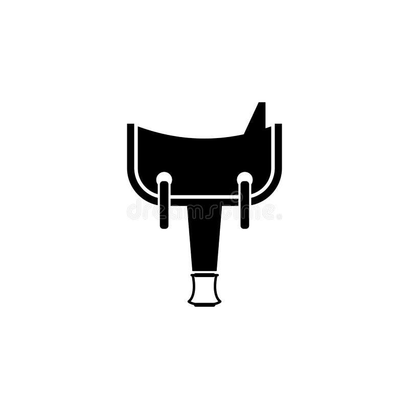 значок седловины Элемент значка Диких Западов для передвижных apps концепции и сети Материальный значок седловины стиля можно исп иллюстрация вектора