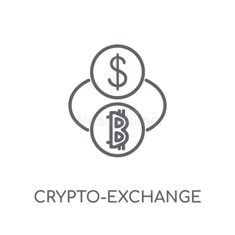 значок секретный-обменом линейный Современный логотип секретный-обменом плана иллюстрация штока