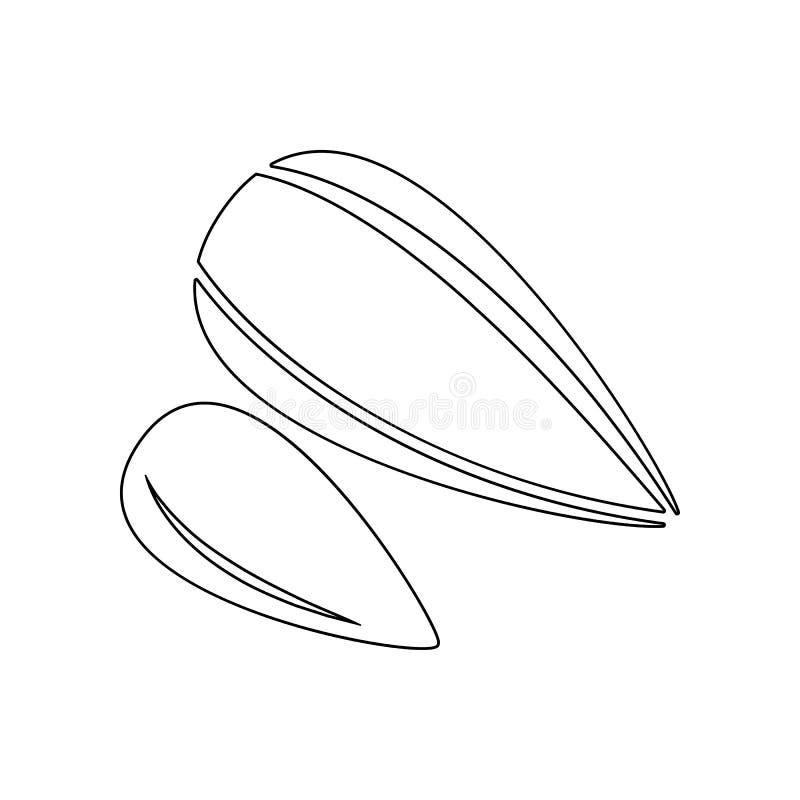 значок семян подсолнуха Элемент гаек для мобильных концепции и значка приложений сети r бесплатная иллюстрация