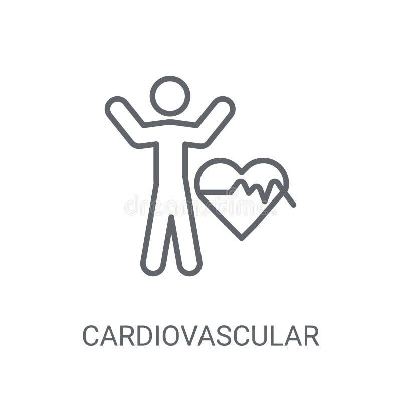 Значок сердечно-сосудистой системы Ультрамодный логотип co сердечно-сосудистой системы иллюстрация штока