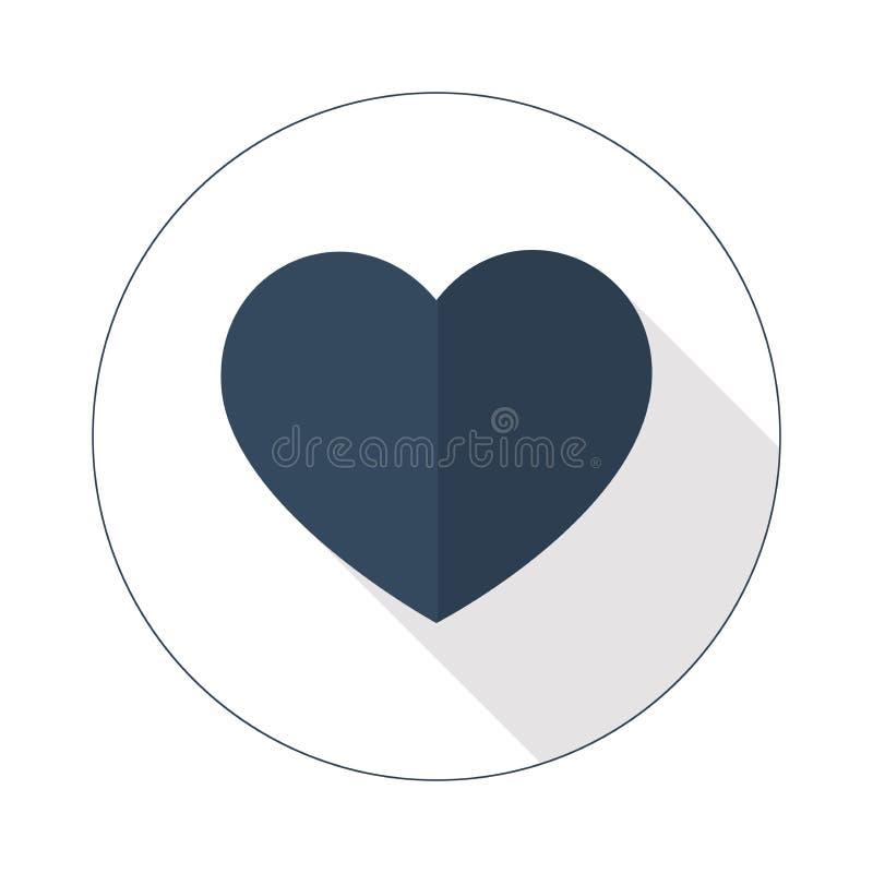 Значок сердца вектора с к цветами тона стоковое фото