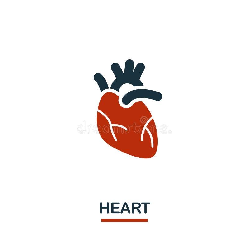 Значок сердца Творческий дизайн от собрания значков здравоохранения Значок сердца 2 цветов для веб-дизайна, приложений, программн иллюстрация вектора