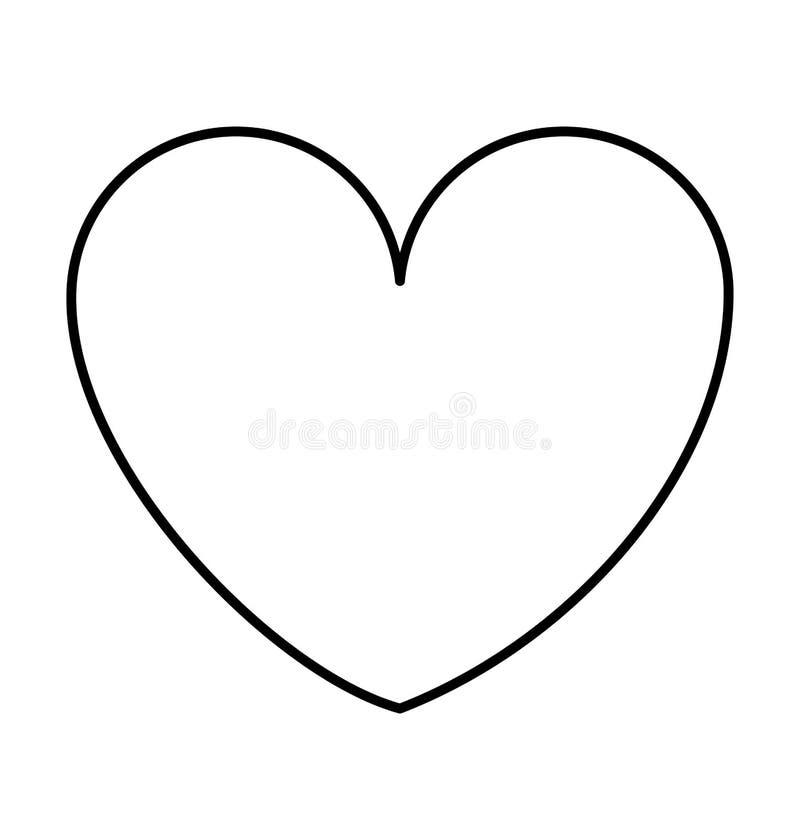 Значок сердца изолированный силуэтом иллюстрация вектора