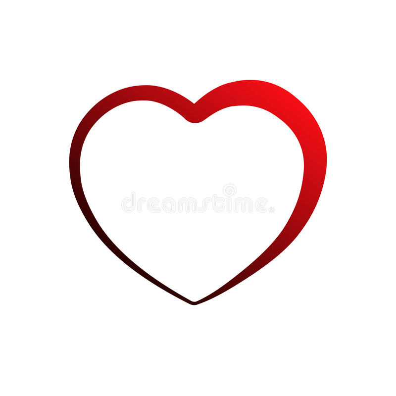Значок сердца, план, силуэт Символ влюбленности, романс и отношений бесплатная иллюстрация