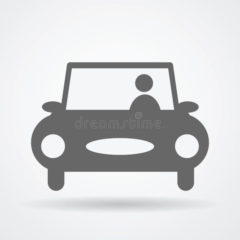 Значок сети автомобиля иллюстрация штока