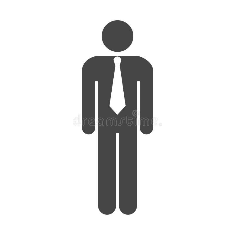 значок сети бизнесмена иллюстрация вектора