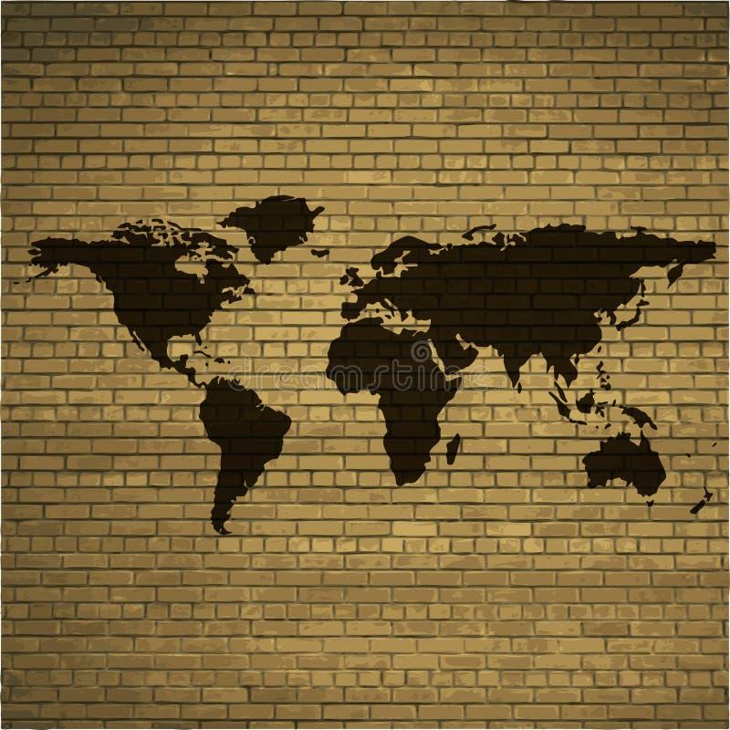Значок сети карты мира, плоский дизайн бесплатная иллюстрация