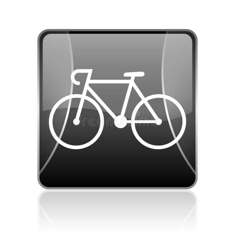 значок сети черного квадрата велосипеда лоснистый бесплатная иллюстрация