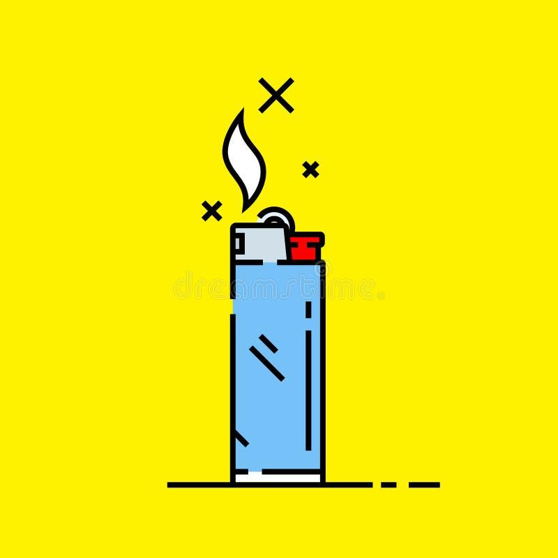 Значок сигареты более светлый иллюстрация вектора