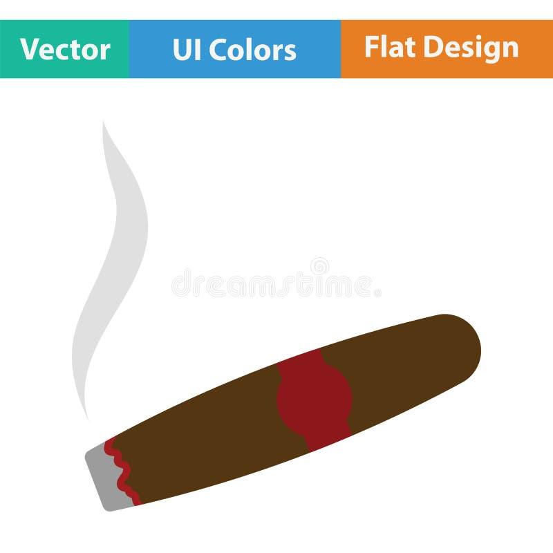 Значок сигары иллюстрация вектора