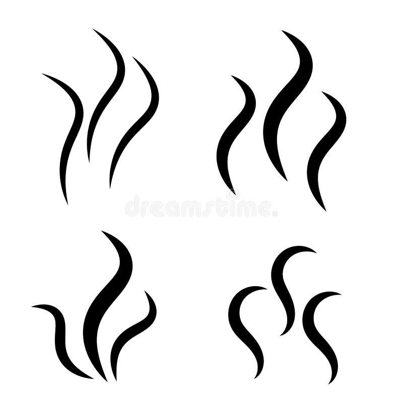 Значок силуэта пара дыма иллюстрация вектора