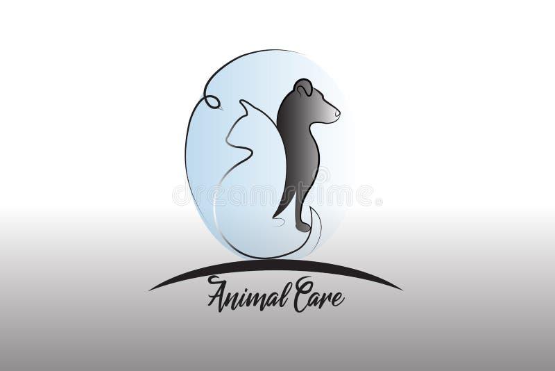 Значок силуэта собаки, кота и птицы логотипа бесплатная иллюстрация