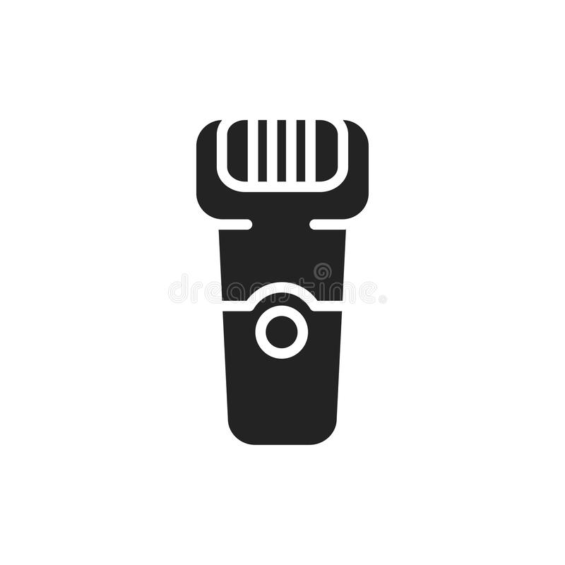 Значок силуэта электрического шевера Метод удаления волос Брить бритвы бесплатная иллюстрация