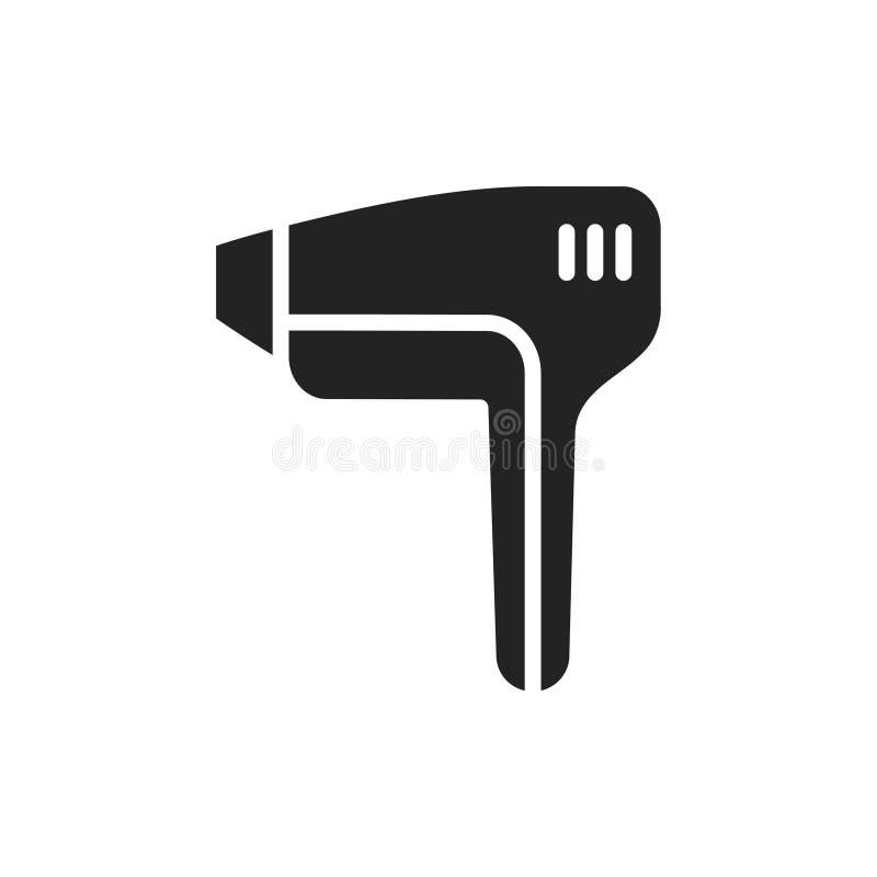 Значок силуэта epilator лазерного луча Метод удаления волос epilation иллюстрация штока