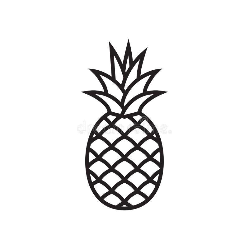 Значок символа ананаса стоковое фото